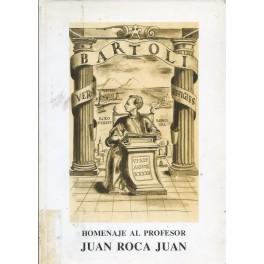 Homenaje a al profesor Juan Roca Juan